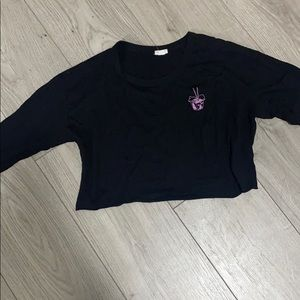 Cute Garage Long sleeves Crop